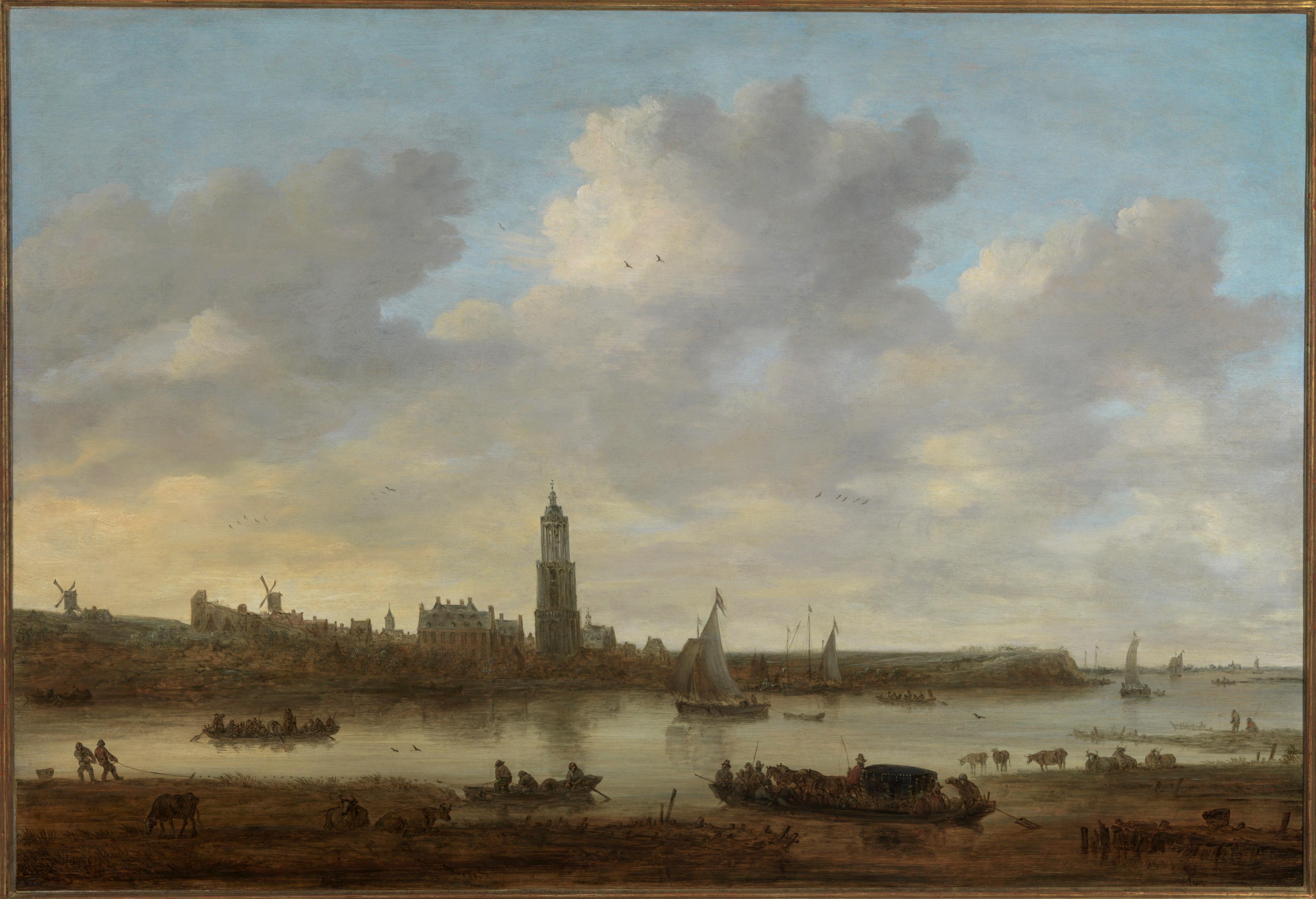 Jan van Goyen Gezicht op Rhenen vanuit het zuidwesten 1649 Foto Tom Haartsen Ouderkerk aan de Amstel
